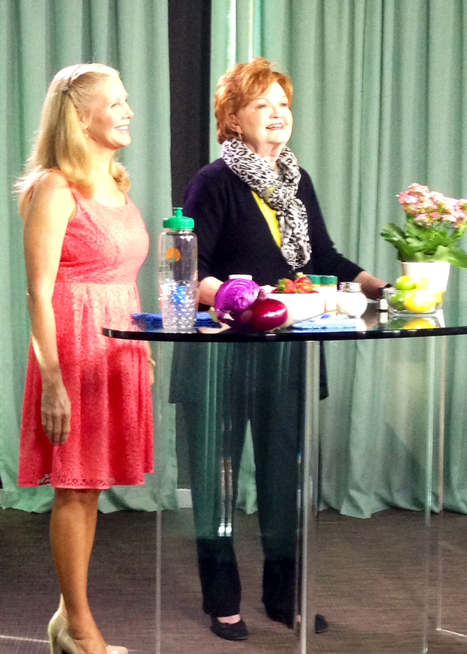 Nutrition Expert Nancy Addison And Suzie Humphreys On The Broadcast Talking About Holistic Allergy Relief
