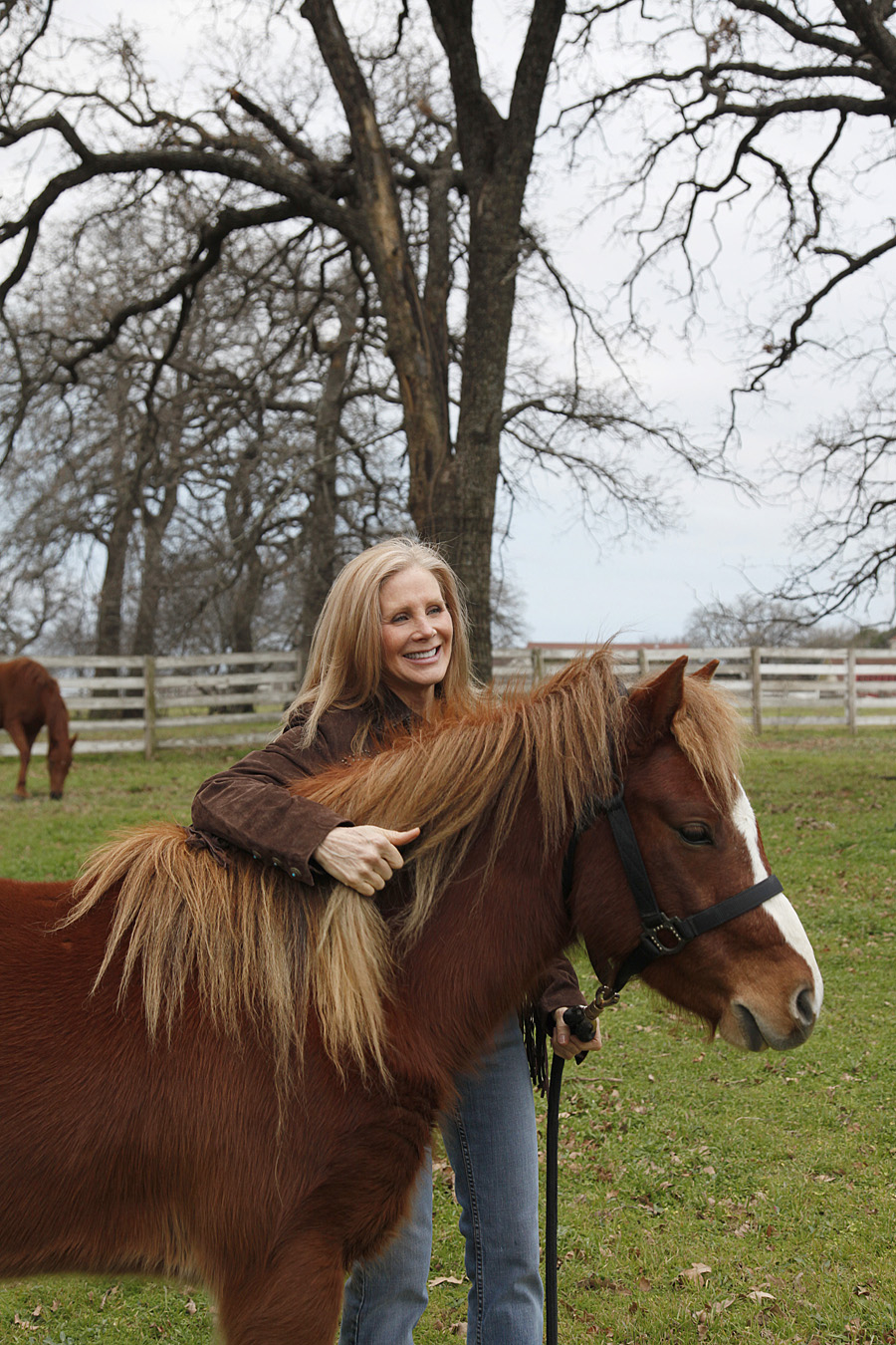 Nancy Addison with  therapy horse with White Bridle Therapy