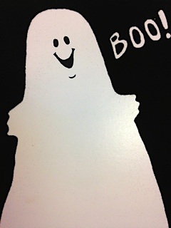 ghost saying boo