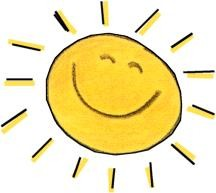sun smiling cartoon