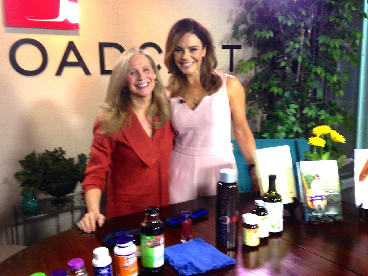Nancy Addison ( Celebrity author, Nutrition expert and chef)  & Lisa Pineiro on The Broadcast
