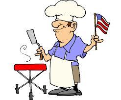 man grilling w flag