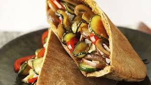 roasted veggie pita sandwich