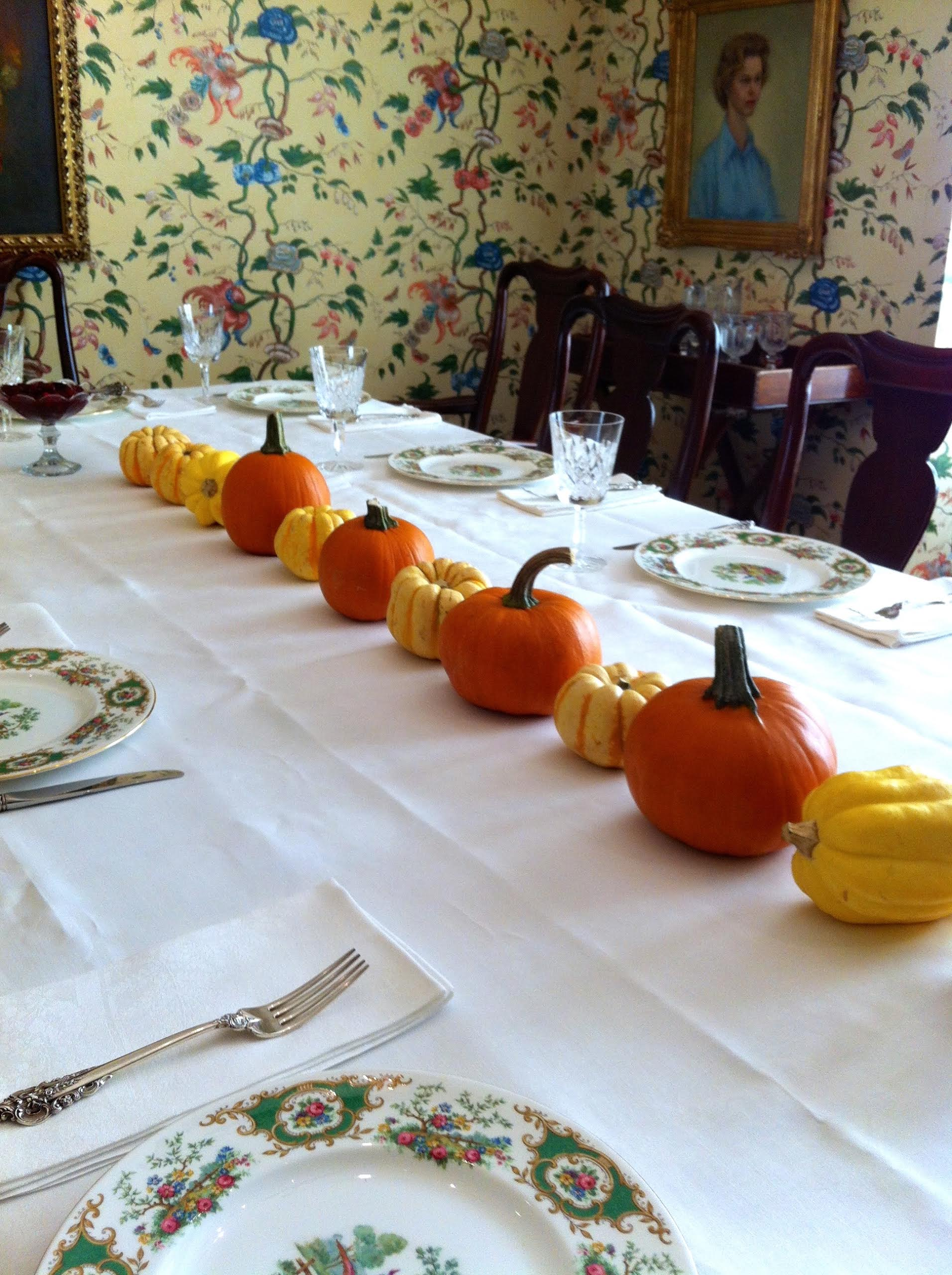 Thanksgiving table at mimi's 2012