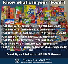artificial food dye, health